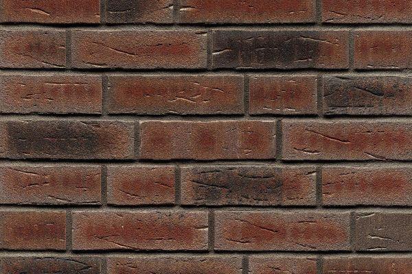 Strangpress-Riemchen BK-R-114-663 (Normalformat (NF)) rot - grau  nuanciert (Klinkerriemchen)