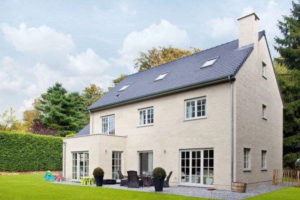Einfamilienhaus H2 mit Klinker 103-151-WDF hellgrau