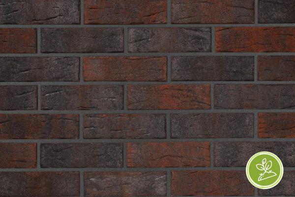 Strangpress-Riemchen BK-R-103-378 (Normalformat (NF)) rot, braun nuanciert (Klinkerriemchen)