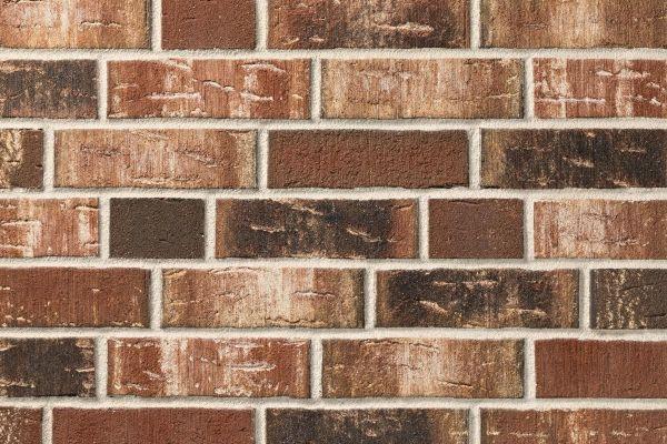 Strangpress-Klinker / Verblender BK-114-107-NF (Normalformat (NF)) rot - braun - bunt