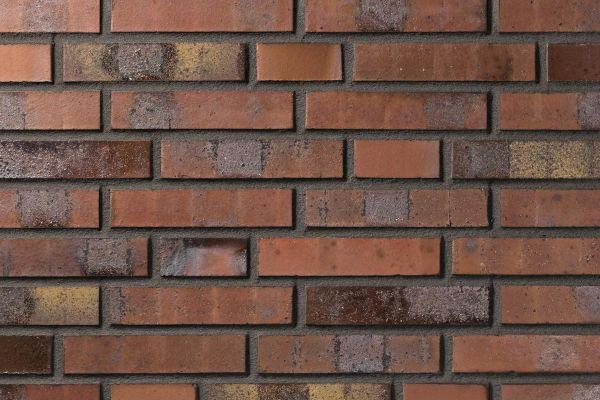 Strangpress-Klinker / Verblender BK-108-119-NF (Normalformat (NF)) rot-bunt