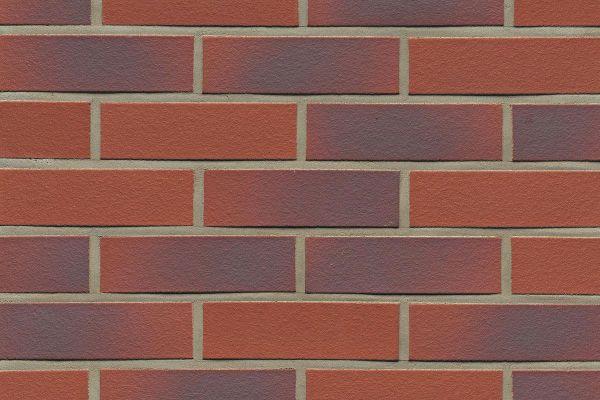 Strangpress-Riemchen BK-R-114-356 (Normalformat (NF)) rot  nuanciert (Klinkerriemchen)