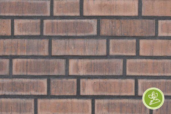Strangpress-Riemchen BK-R-117-213-WDF (Waaldickformat (WDF)) rot nuanciert (Klinkerriemchen)