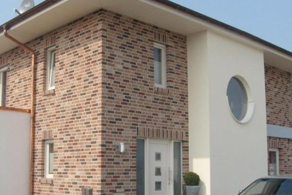 Stadtvilla H1 mit Klinker 103-125-WDF braun-bunt