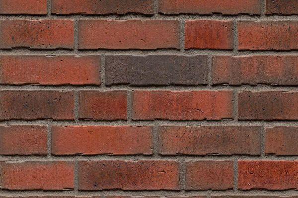 Strangpress-Riemchen BK-R-114-768 (Normalformat (NF)) rot nuanciert (Klinkerriemchen)