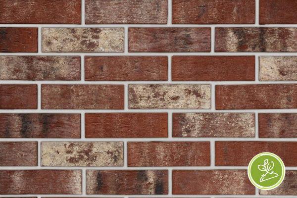 Strangpress-Riemchen BK-R-103-195 (Normalformat (NF)) rot nuanciert (Klinkerriemchen)