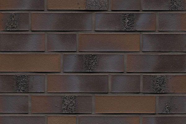 Strangpress-Riemchen BK-R-114-564 (Normalformat (NF)) braun - anthrazit nuanciert (Klinkerriemchen)