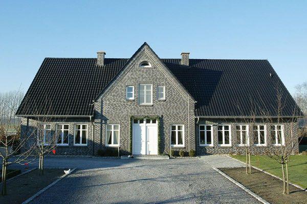 Einfamilienhaus H1 mit Klinker 102-110-NF blau-schwarz