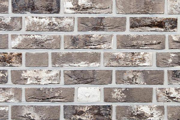 Handform-Klinker / Verblender BK-113-109-WDF (Waaldickformat-Klinkerstein (WDF)) grau - weiß