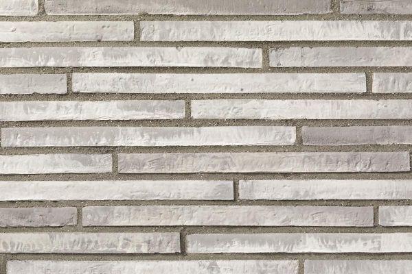 Wasserstrich-Klinker / Verblender BK-121-110-ModF (Modulformat-Klinkerstein (ModF)) grau - weiß nuanciert