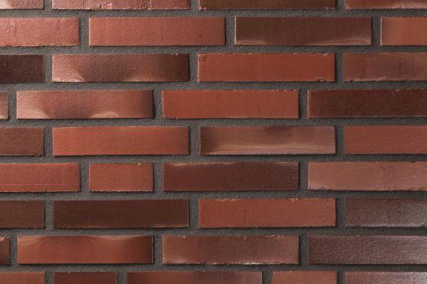 Strangpress-Klinker / Verblender BK-108-176-DF (Dünnformat-Klinkerstein (DF)) rot-bunt