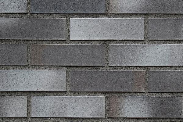Strangpress-Klinker / Verblender BK-108-127-2DF schwarz-grau Zweifaches Dünnformat (2DF)