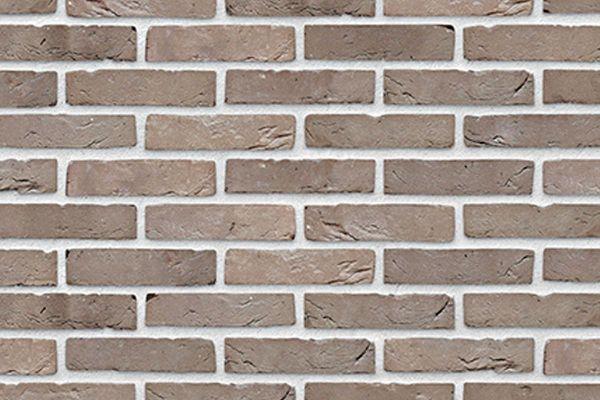 Handform-Riemchen BK-R-103-158 (Waalformat (WF)) grau-braun (Klinkerriemchen)