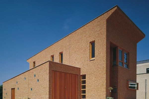Einfamilienhaus mit Klinker 103-168-WDF beige - rot