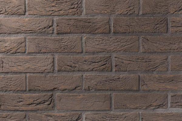 Handform-Klinker / Verblender BK-105-121-WDF (Waaldickformat-Klinkerstein (WDF)) braun - grau nuanciert