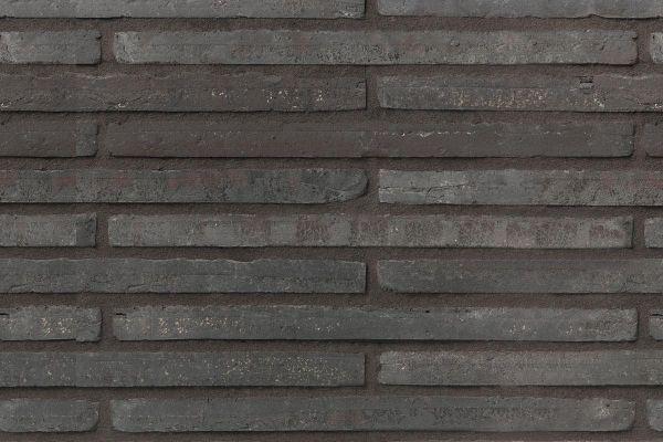 Wasserstrich-Klinker / Verblender BK-107-120-ModF (Modulformat-Klinkerstein (ModF)) schwarz-grau