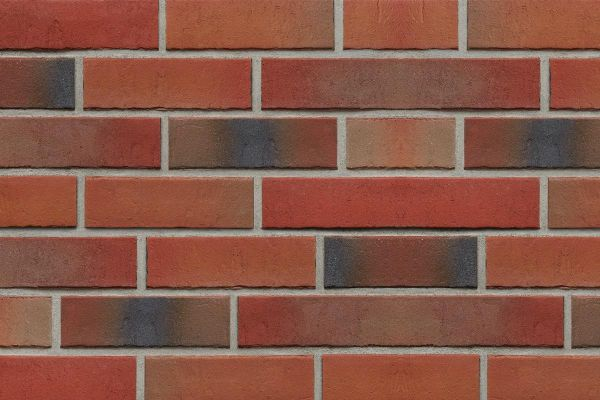 Strangpress-Riemchen BK-R-107-155-NF (Normalformat (NF)) rot nuanciert (Klinkerriemchen)