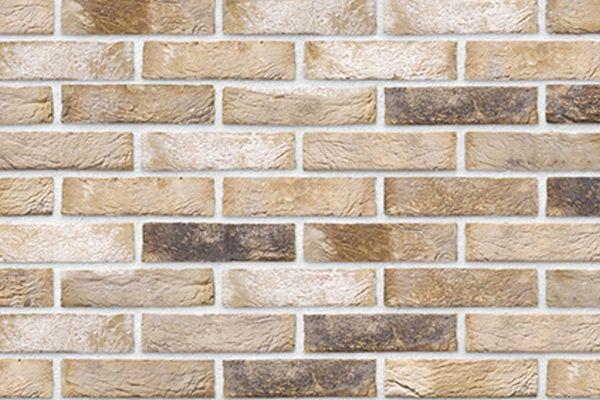 Handform-Riemchen BK-R-103-183 (Waaldickformat (WDF)) beige - braun nuanciert (Klinkerriemchen)