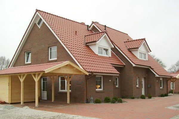 Einfamilienhaus H1 mit Klinker 104-110-NF rot-bunt