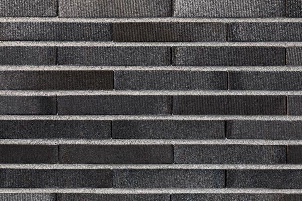 Strangpress-Klinker / Verblender BK-108-128-ModF (Modulformat-Klinkerstein (ModF)) schwarz-grau