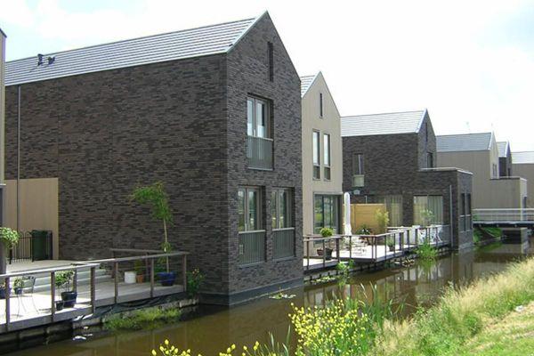 Mehrfamilienhaus H1 mit Klinker 103-119-WDF braun-nuanciert