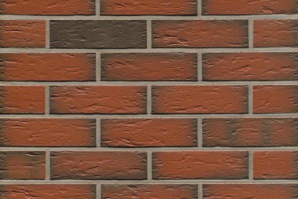 Strangpress-Riemchen BK-R-114-343 (Normalformat (NF)) rot - grau nuanciert (Klinkerriemchen)
