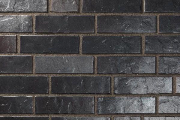 Strangpress-Klinker / Verblender BK-102-111-NF (Normalformat-Klinkerstein (NF)) blau-schwarz