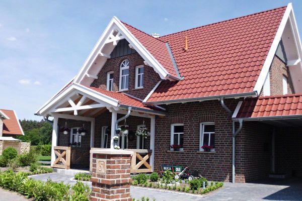 Einfamilienhaus / Landhaus H4 mit Klinker 104-101-NF rot-braun