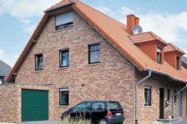 Einfamilienhaus H3 mit Klinker 103-105-WDF braun-rot