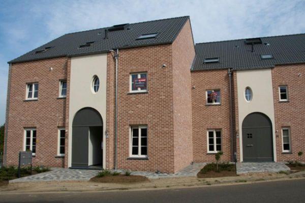 Doppelhaus H1 mit Klinker 103-170-WDF rot - weiß nuanciert