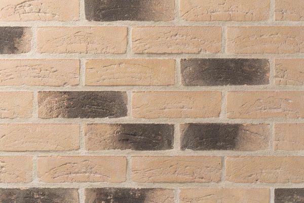 Handform-Klinker / Verblender BK-105-138-WDF (Waaldickformat (WDF)) gelb - anthrazit nuanciert