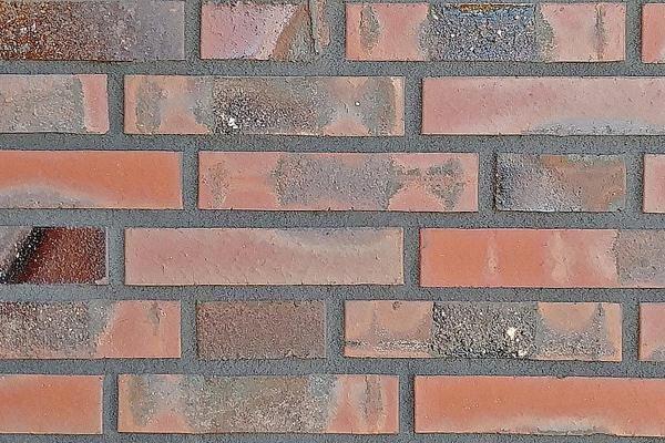 Strangpress-Klinker / Verblender BK-108-148-DF rot-bunt Dünnformat (DF)