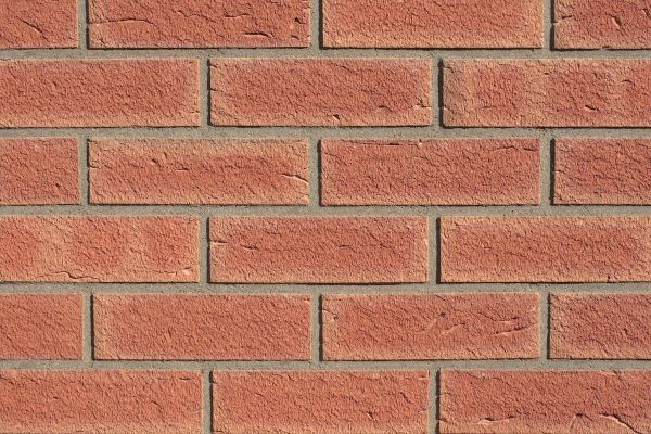 Strangpress-Riemchen BK-R-117-242-WDF (Waaldickformat (WDF)) rot (Klinkerriemchen)