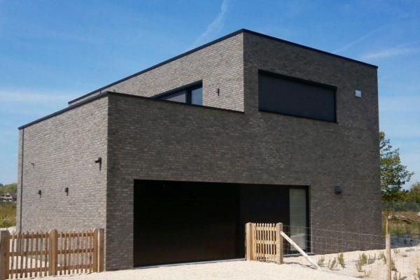 Bauhaus H2 mit Klinker 103-157-WF grau, weiß nuanciert