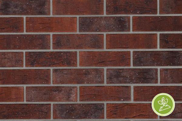 Strangpress-Riemchen BK-R-103-381 (Normalformat (NF)) rot nuanciert (Klinkerriemchen)