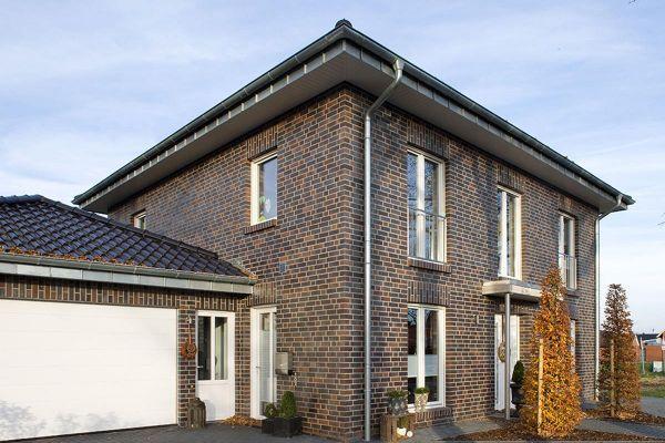 Stadtvilla H2 mit Klinker 102-112-NF schwarz-braun