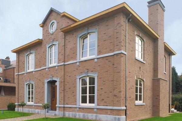 Stadtvilla H1 mit Klinker 103-176-WDF rot - braun
