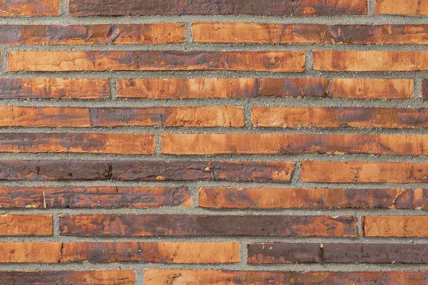 Wasserstrich-Klinker / Verblender BK-121-103-ModF (Modulformat-Klinkerstein (ModF)) orange - rot geflammt