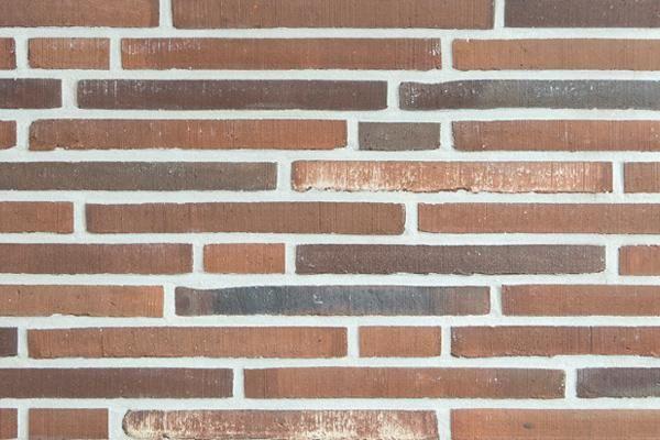 Handform-Klinker / Verblender BK-113-117-ModF rot - braun - bunt Modulformat (ModF)