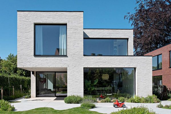 Bauhaus H2 mit Klinker 122-113-ModF weiß