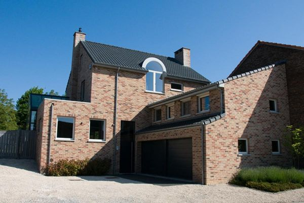 Einfamilienhaus H2 mit Klinker 103-105-WDF braun-rot