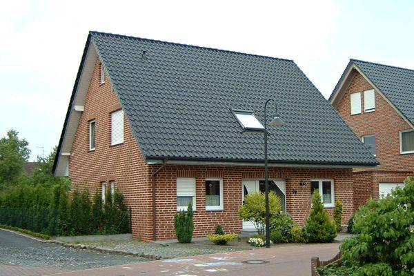 Einfamilienhaus H2 mit Klinker 101-120-NF rot - bunt - geflammt