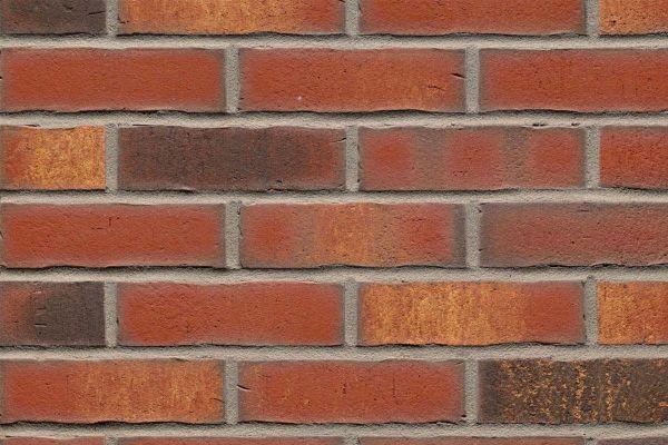 Strangpress-Riemchen BK-R-114-744 (Normalformat (NF)) rot - bunt  nuanciert (Klinkerriemchen)