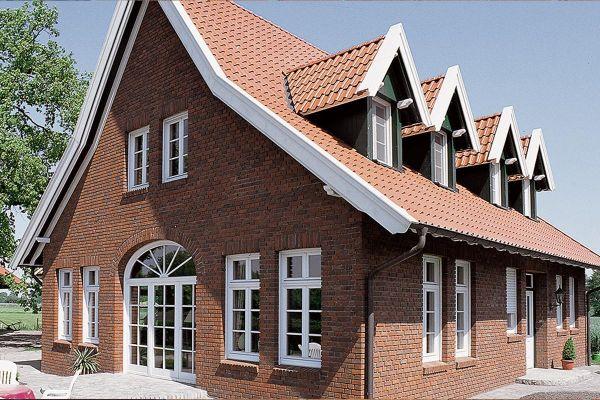 Einfamilienhaus H2 mit Klinker 102-119-NF rot-braun-Kohle