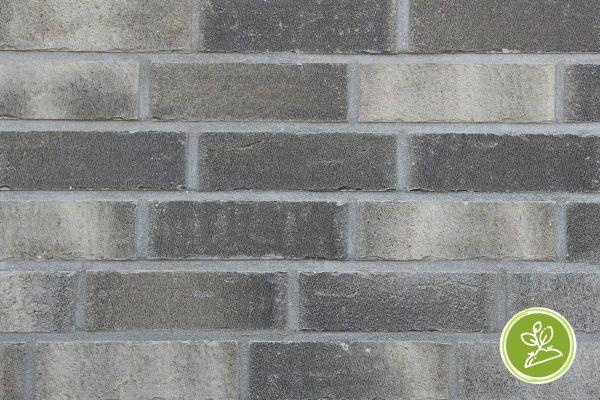 Strangpress-Riemchen BK-R-117-207-NF (Normalformat (NF)) grau nuanciert (Klinkerriemchen)