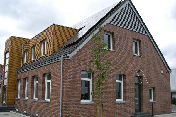 Mehrfamilienhaus H1 mit Klinker 101-122-NF rot - bunt - Kohle
