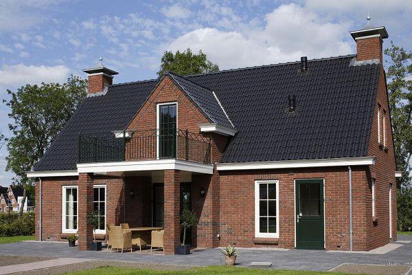 Einfamilienhaus / Landhaus H1 mit Klinker 104-101-NF rot-braun