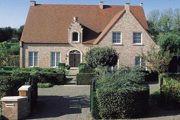 Einfamilienhaus H1 mit Klinker 103-129-NF braun-bunt