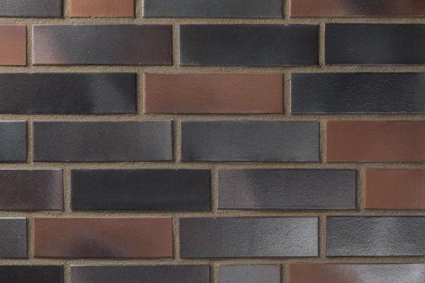 Strangpress-Klinker / Verblender BK-102-112-NF (Normalformat-Klinkerstein (NF)) schwarz-braun