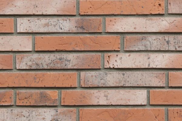 Strangpress-Riemchen BK-R-117-233-NF (Normalformat (NF)) rot nuanciert (Klinkerriemchen)